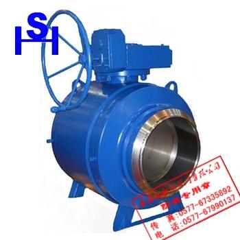 q367f/h/y全焊接球阀是一种蜗轮传动,整体结构采用全焊接制造工艺图片