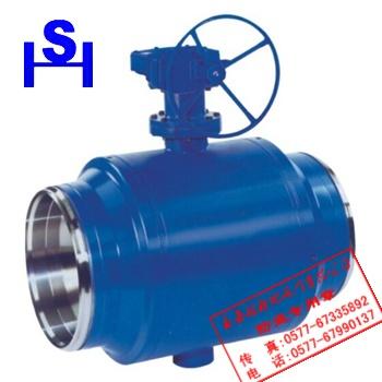 """焊接制造工艺,公称通径从2""""~40"""",压力范围为150-1500lb的固定式球阀图片"""