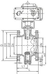 电动v型球阀